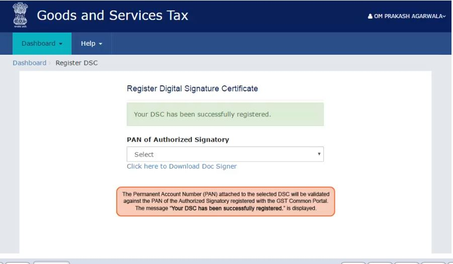 dsc-for-regn-of-gst6