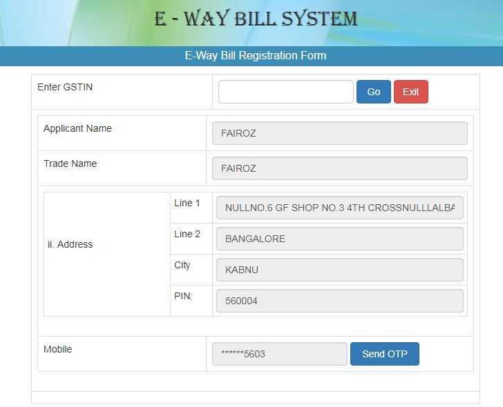 How To Register For E Way Bill In Karnataka