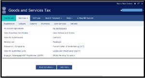 Voluntary Payment Home page