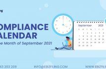 Compliance Calendar September 2021