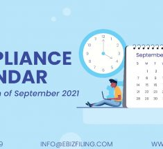 Tax Compliance and Statutory due dates for the month of September, 2021