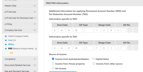 Source of Income to be filled in Spice + MCA form