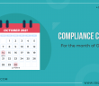 Compliance Calendar for the Month of October 2021